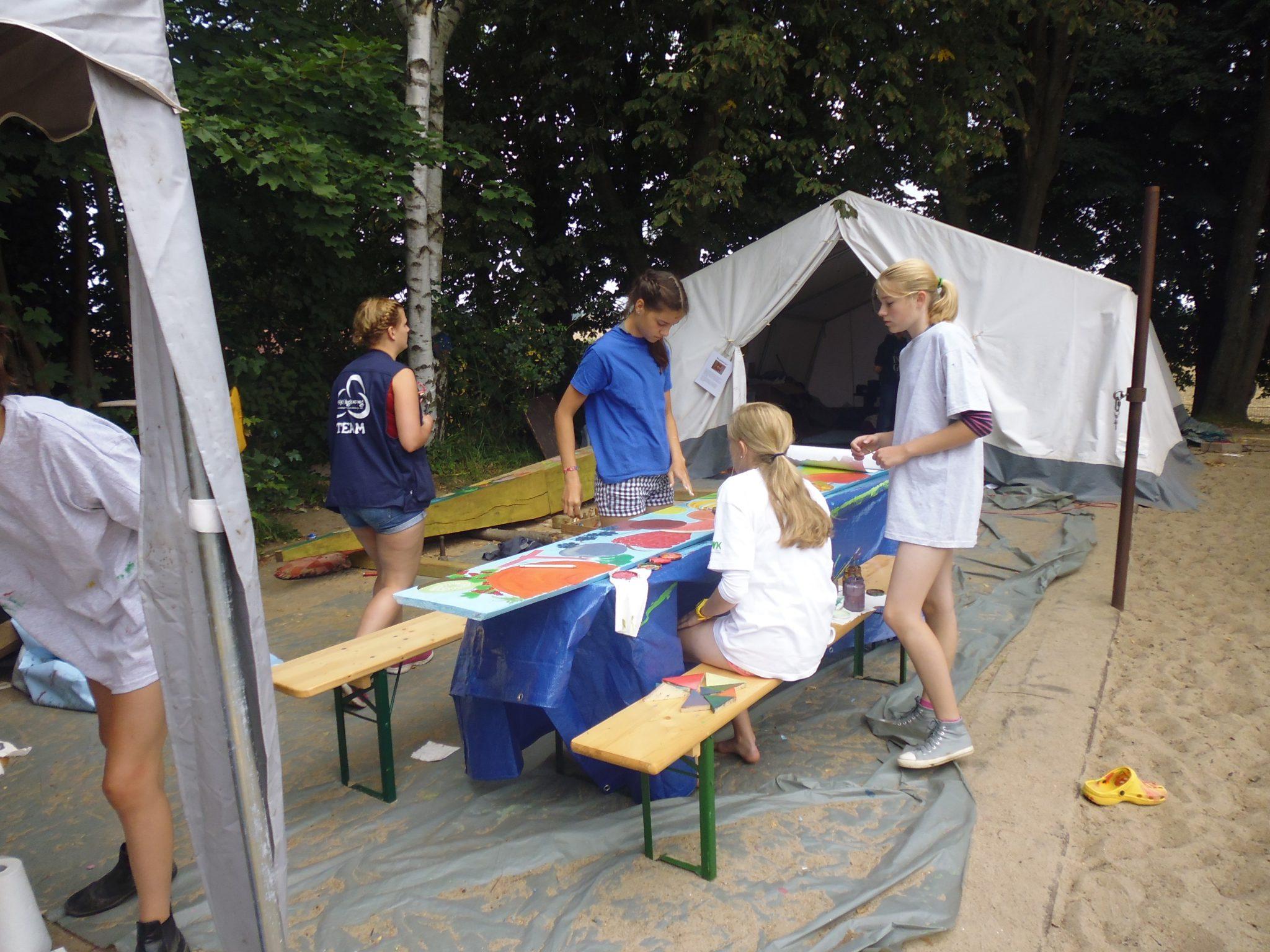 Das Art-Camp bei der Arbeit